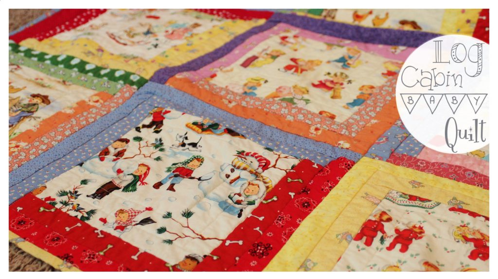 Log Cabin Baby Quilt Whitney Sews