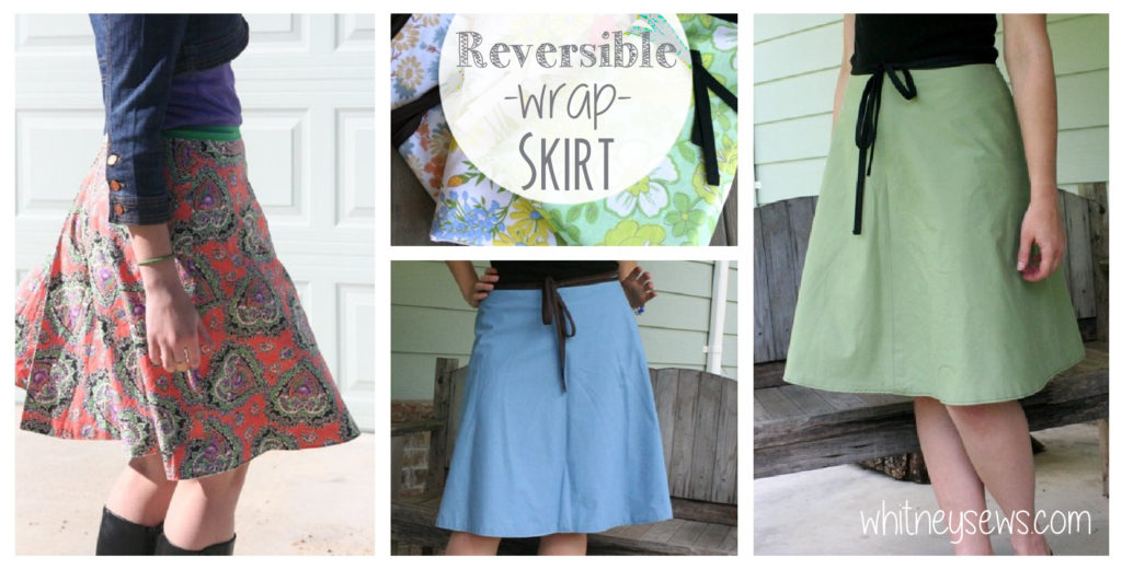 Reversible Wrap Skirt Whitney Sews