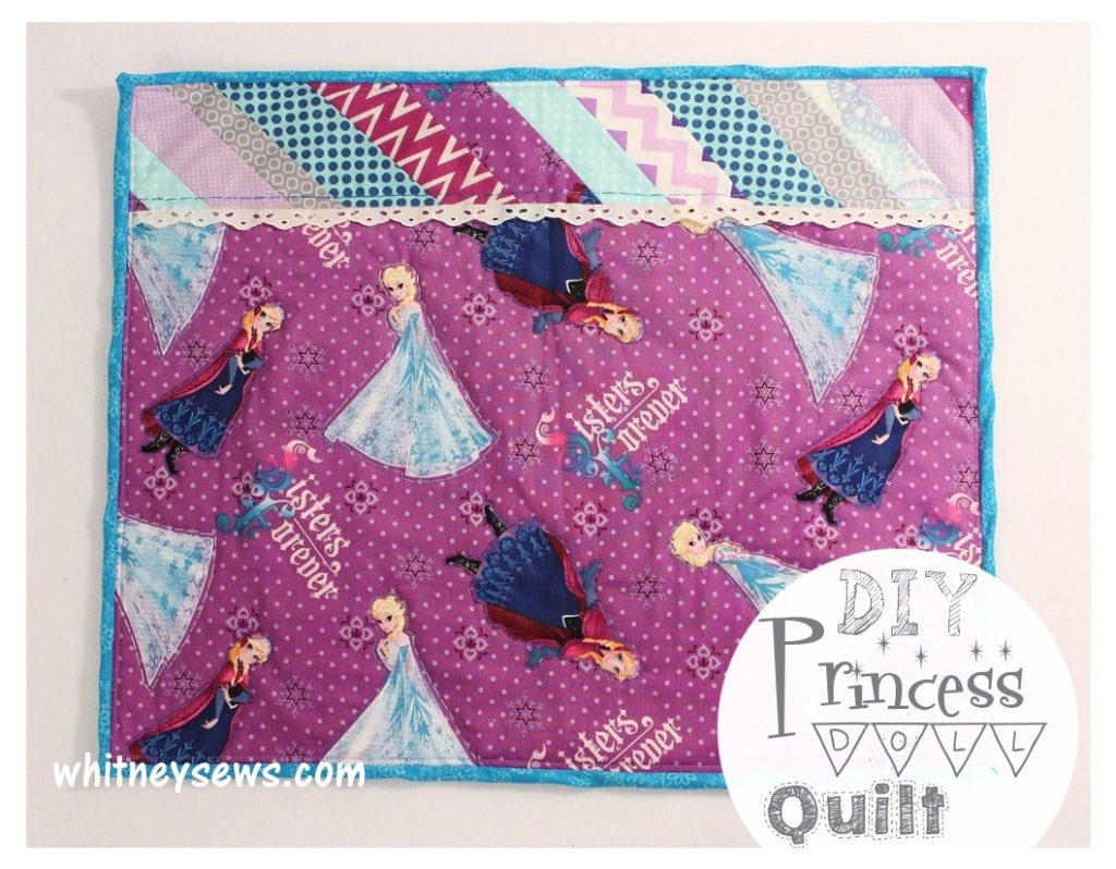 Princess Mini Quilt with full FREE tutorial from Whitney Sews