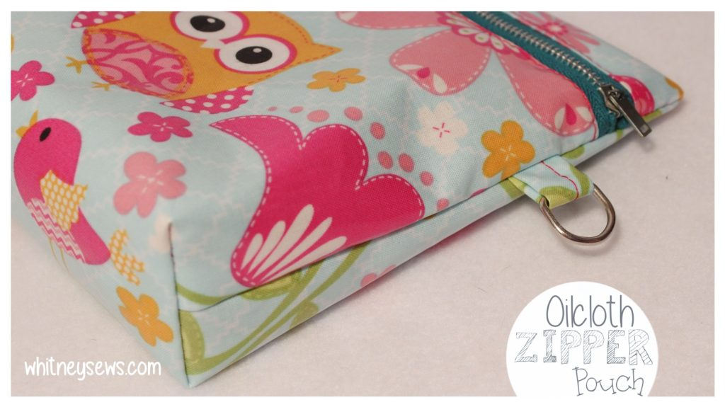 Full free video tutorial showing how to create a cute and practical zipper pouch from oilcloth.