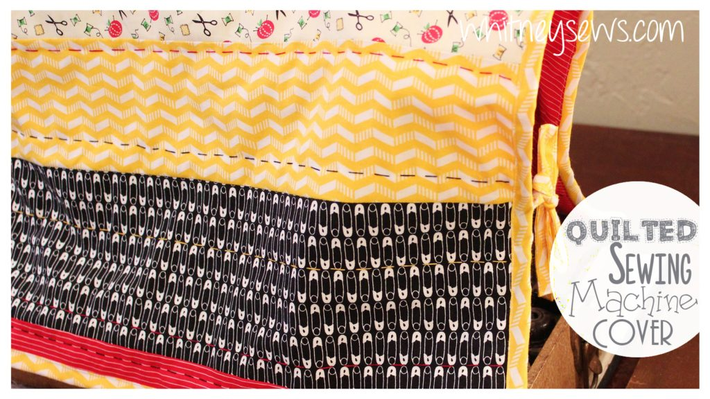Quilted Sewing Machine Cover Tutorial from Whitney Sews