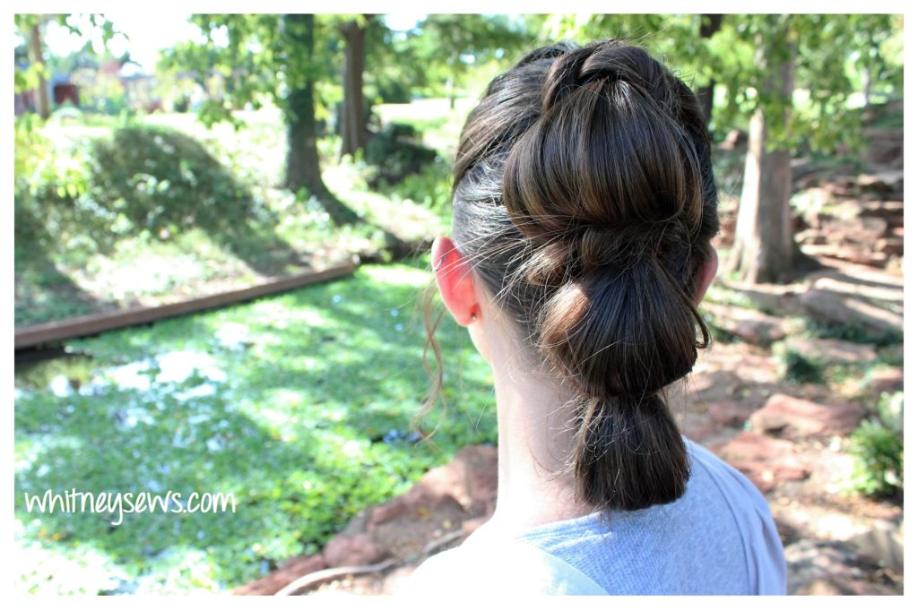 Rey triple bun Star Wars hair from Whitney Sews