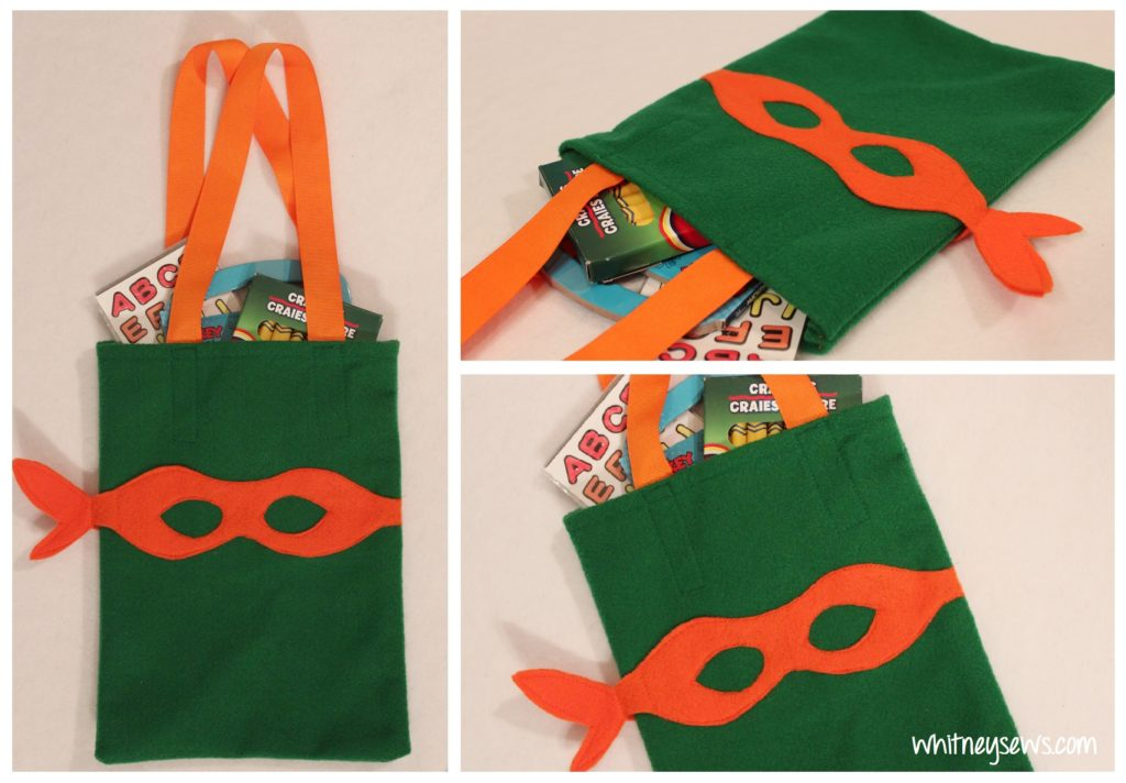 TMNT Party Favor Bags with Full Free Tutorial by Whitney Sews