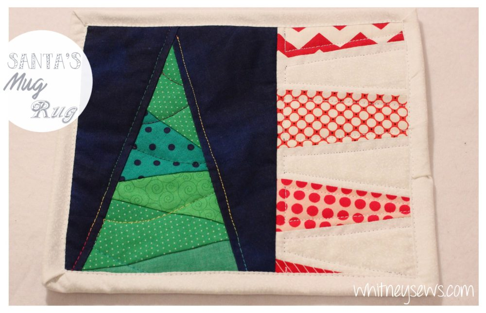 Christmas Mug Rug How to with Pattern from Whitney Sews