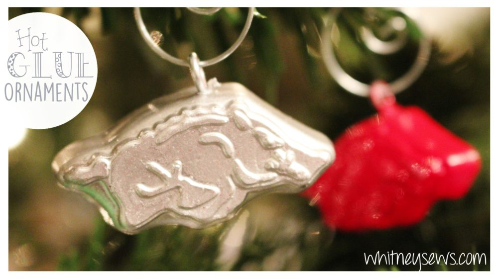 DIY Christmas ornaments made from hot glue and candy molds! Endless possibilities!