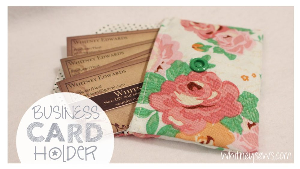 Fabric Business Card Holder | Whitney Sews