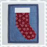 Paper Pieced Christmas Stocking