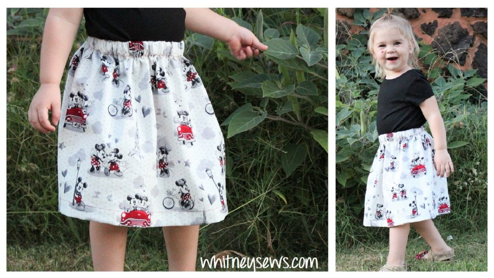 step by step sewing tutorial for gathered skirts
