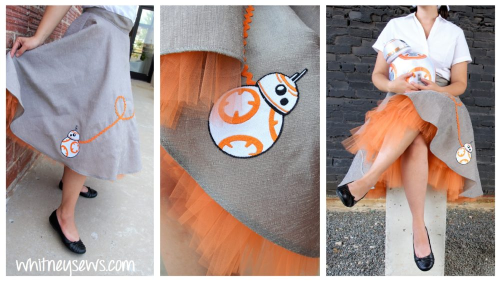 DIY retro style BB-8 skirt