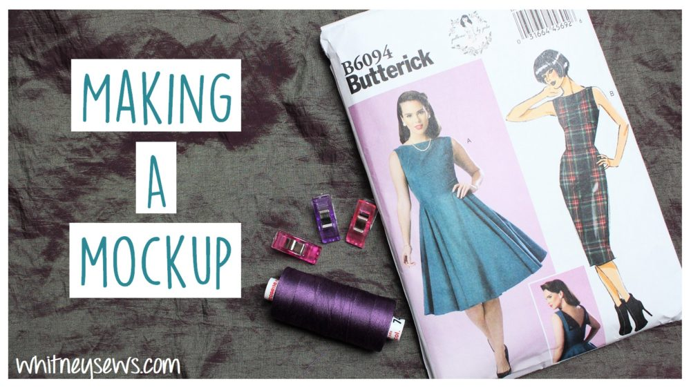 Making a mockup of butterick 6094