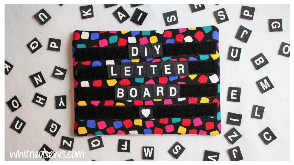 Letter board bag using velcro letters