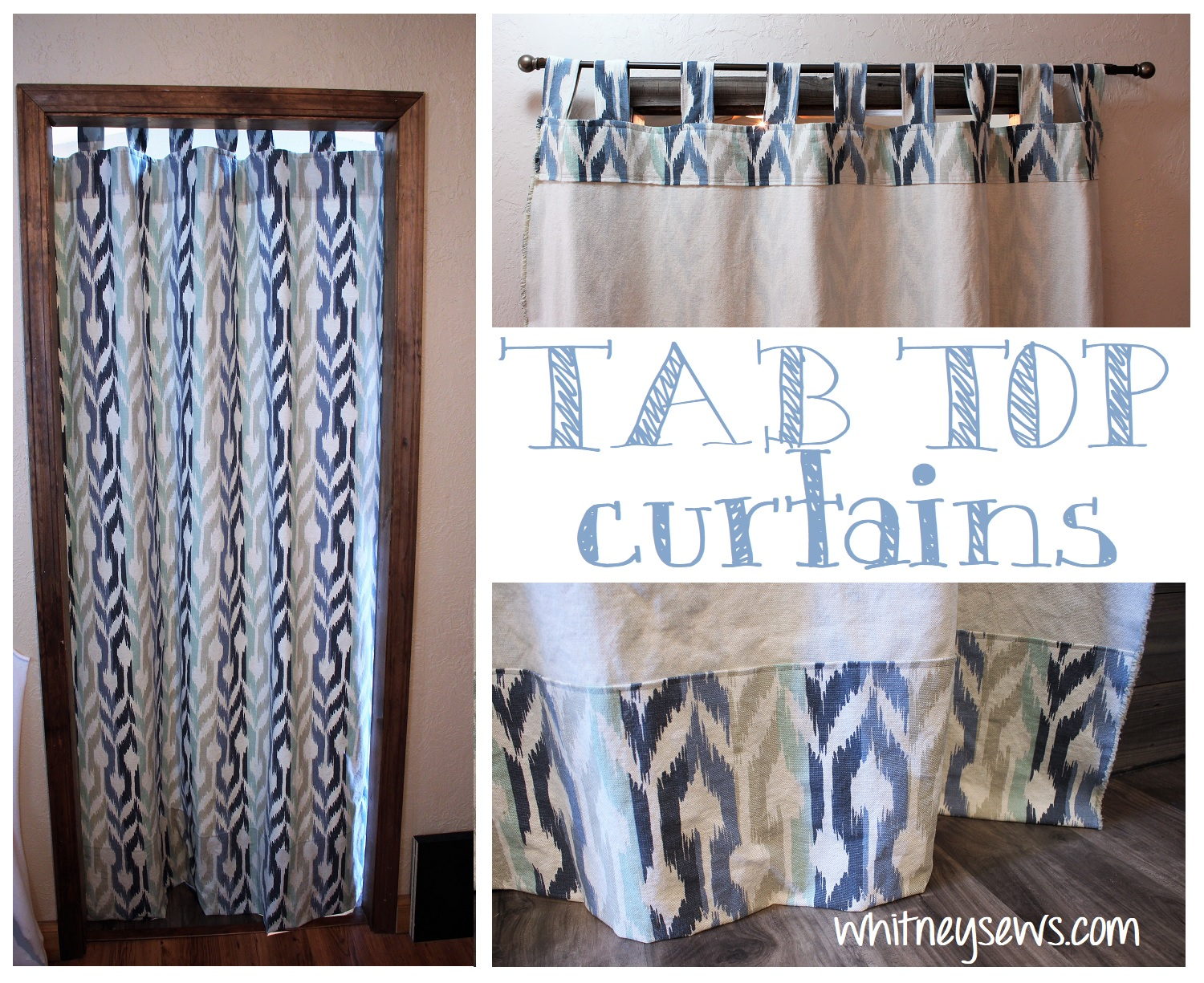 Tab Top Curtains Sewing How To