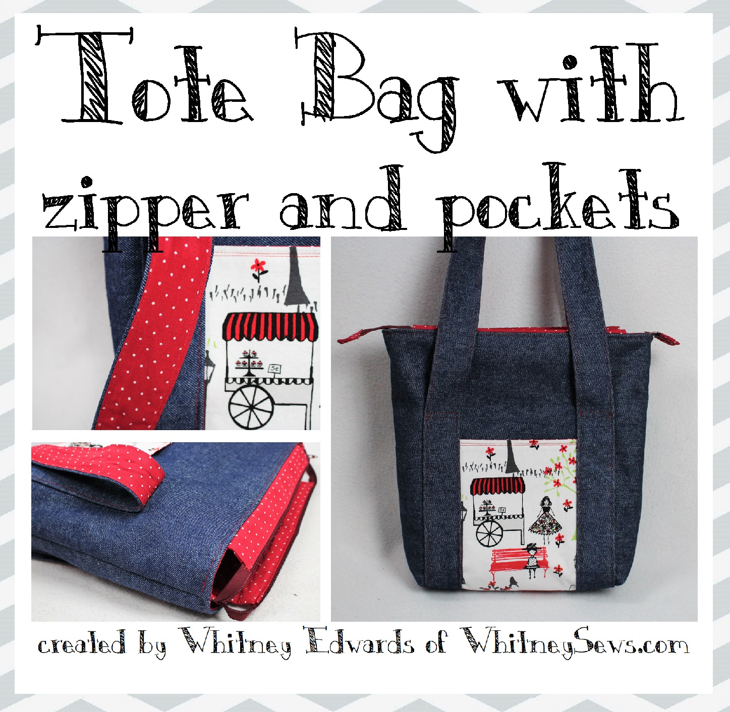 Zipper Tote Bag With Pockets Pdf