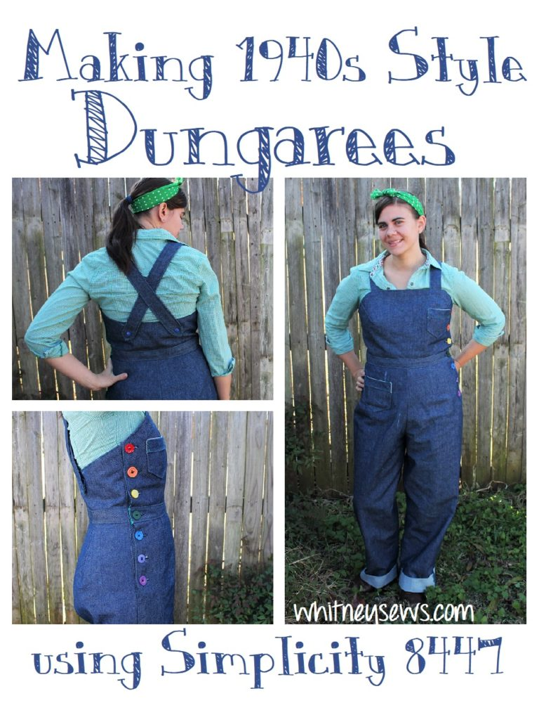 Making 1940s Dungarees