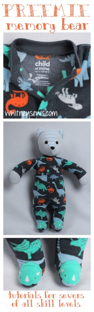 Preemie Memory Bear tutorial from Whitney Sews